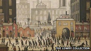 Coming from the Mill by L.S. Lowry