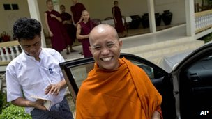 File photo: Buddhist monk Ashin Wirathu in Burma