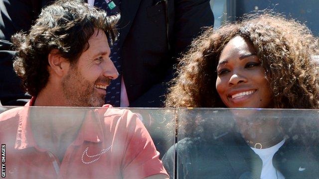 Serena Williams et Patrick Mouratoglou Patrick Mouratoglou And Serena