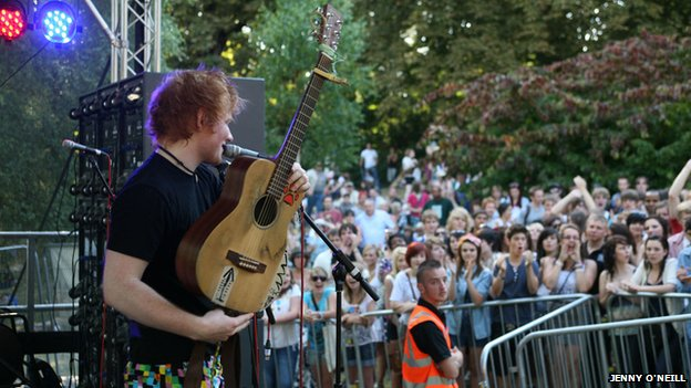 Ed Sheeran at Ipswich Music Day 2010
