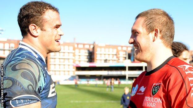 Jamie Roberts and Gethin Jenkins