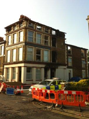 Scene of Richmond Street fire