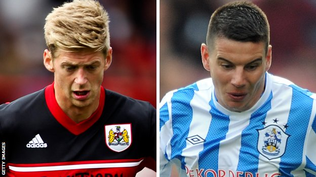 Jon Stead (left) and Adam Hammill