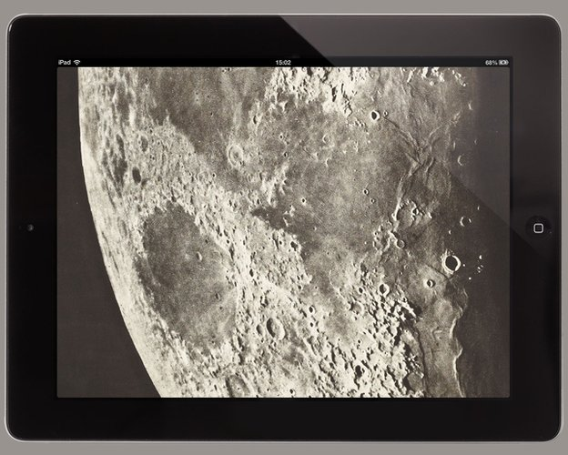 Atlas of the Moon on an iPad