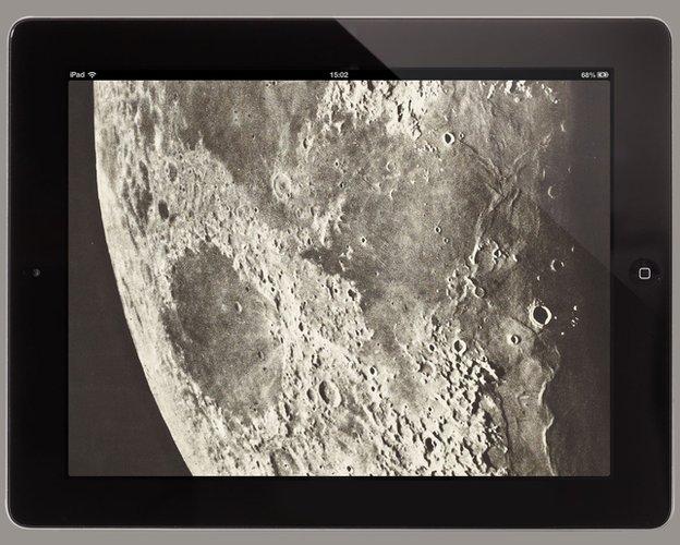Atlas of the Moon on an iPad