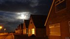 Supermoon in Withernsea, East Yorkshire