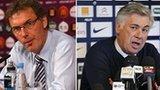 Laurent Blanc and Carlo Ancelotti