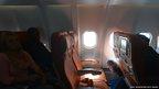An empty aeroplane seat