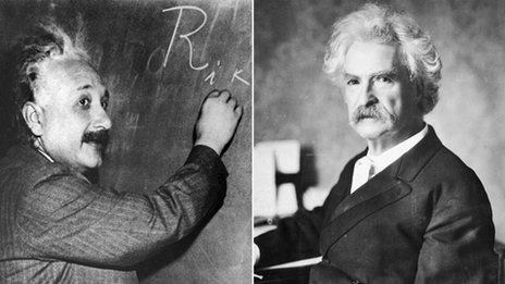 Albert Einstein and Mark Twain