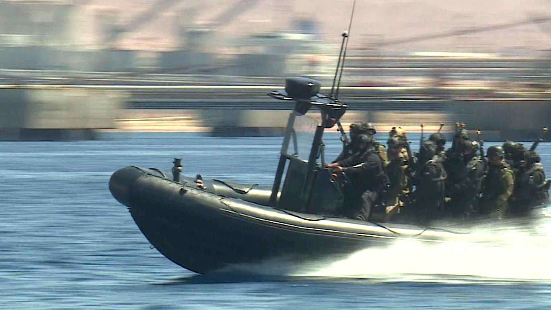 Special forces in boat, Jordan
