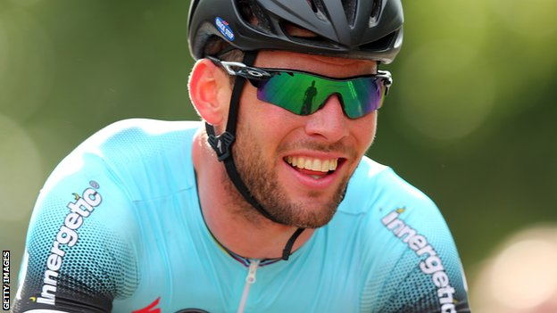 Mark Cavendish after winning the National Road Race Championship in Glasgow
