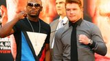 Floyd Mayweather Jr and Saul Alvarez