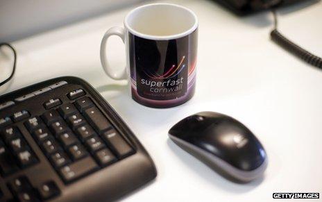 """Mug with """"Superfast Cornwall"""""""