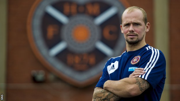 Hearts full-back Jamie Hamill