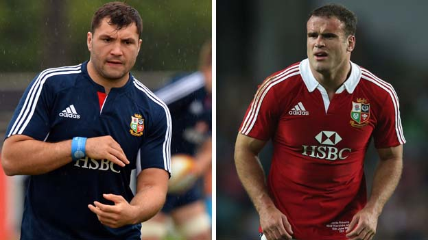 Alex Corbisiero and Jamie Roberts