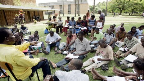 A class at the university campus in Cocody (Archive shot)