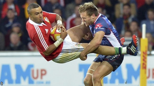Simon Zebo and Lachlan Mitchell
