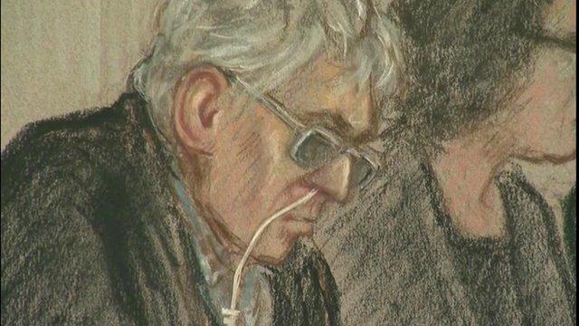 Drawing of Ian Brady in Court