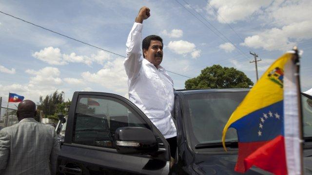 Venezuelan President Maduro in Haiti
