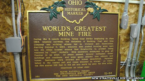 New Straitsville mine fire marker