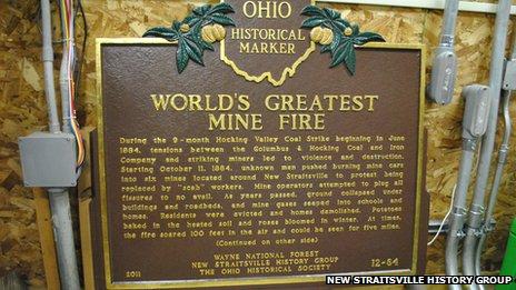New Straitsville mine fire marker