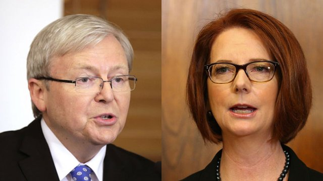Kevin Rudd and Julia Gillard