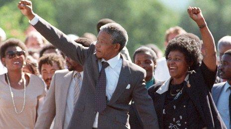Nelson Mandela and Winnie Madikizela-Mandela