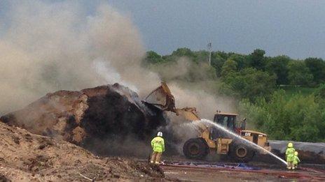 Beenham compost fire