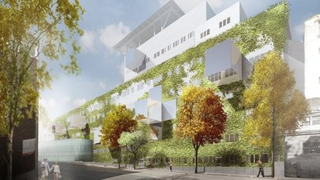 """Stockholm architects Tham and Videgard believe their design will """"offer a new experience"""" which they call a vertical garden"""