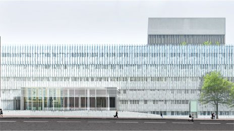 """New York company SO-IL's submission for the BRI, Light and Air, centres on creating an airy translucent """"light-filled cocoon"""" for the Queen's Building"""