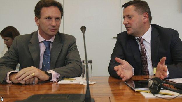Christian Horner (left)