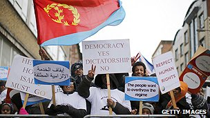 Demonstration against Eritrean government in London