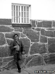 Dr Essop at Robben Island in 1997