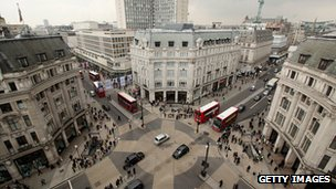 Oxford Circus from above