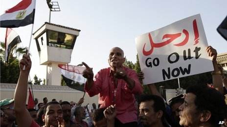 Anti-government protesters in Cairo (26 June 2013)