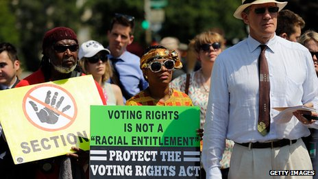 Supporters of voting rights