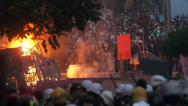 Clashes at Belo Horizonte
