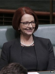 Julia Gillard in parliament on 27 June 2013