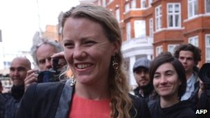 File image of Wikileaks legal activist Sarah Harrison, from 21 June 2012