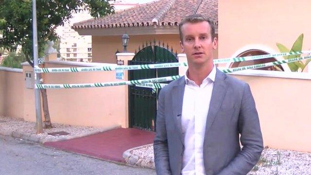The BBC's Tom Burridge outside the villa in Cala de Mijas