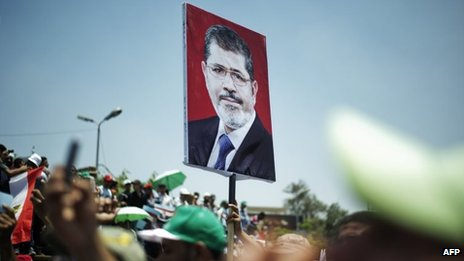 Pro-Morsi demonstration in Cairo (21/06/13)
