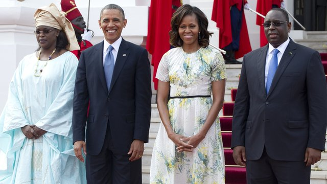 The Obamas with President Sall and wife