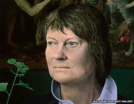 Tom Phillips' portrait of Iris Murdoch