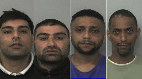 (L-R) Anjum Dogar, Akhtar Dogar, Bassam Karrar and Mohammed Karrar