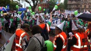 Teacher rally in Preston