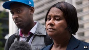 Doreen Lawrence with her son Stuart Lawrence