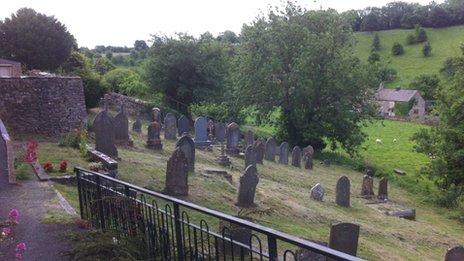 The graveyard at Naunton Baptist Church
