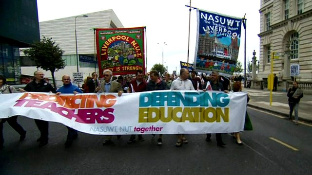 Teachers march in Liverpool