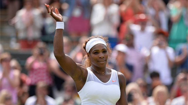 Serena Williams beats Caroline Garcia at Wimbledon 2013