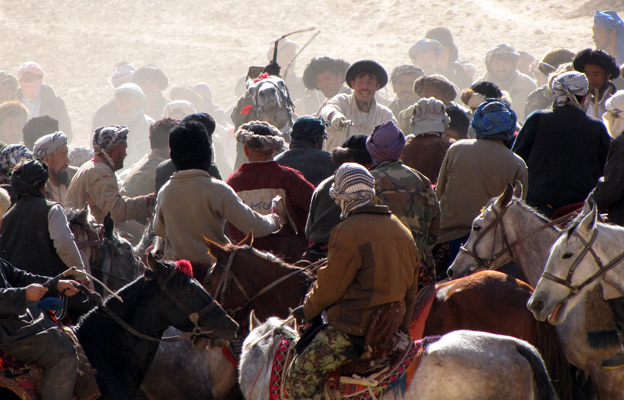 A game of Buzkashi